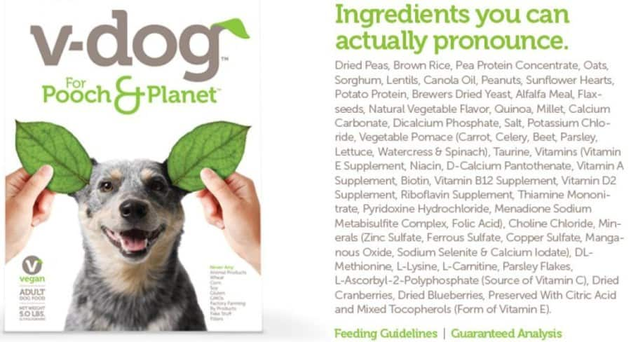 v-dog ingredients