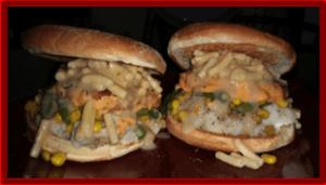 The Unhealthy Vegan Lab's Thanksgiving Burger 2.0