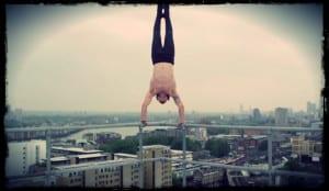 Tim Shieff Handstand on railing