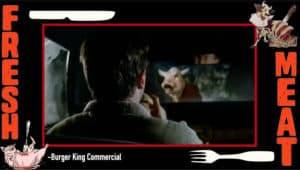 Burger king make out point angry cow commercial